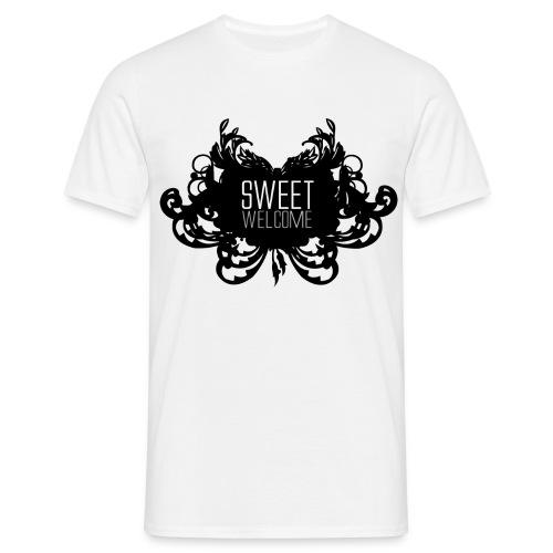 Sweet Welcome Black N White  - T-shirt herr