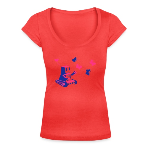 Robot tee - Women's Scoop Neck T-Shirt