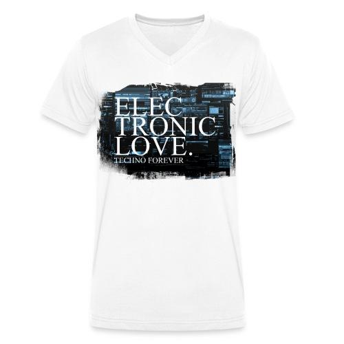 Unisex V-Shirt Electronic Love - Männer Bio-T-Shirt mit V-Ausschnitt von Stanley & Stella