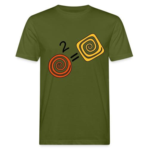 Spirale_zum_Quadrat - Männer Bio-T-Shirt