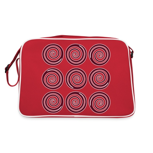 Spiralen_im_Quadrat - Retro Tasche