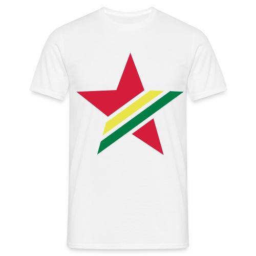 Rasta Star White - Mannen T-shirt