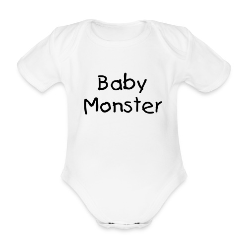 Baby Monster Onepiece - Organic Short-sleeved Baby Bodysuit