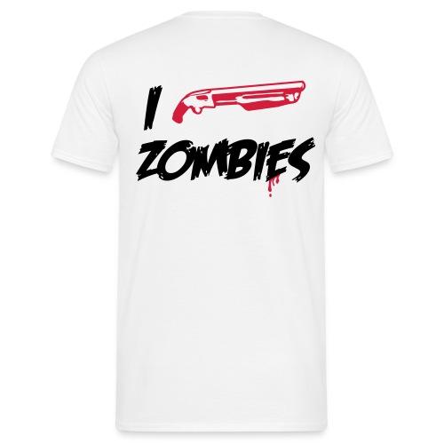 I shoot Zombies  - Männer T-Shirt