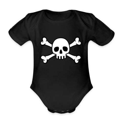 skull - Body ecologico per neonato a manica corta