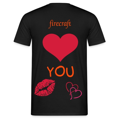 firecraft love you - T-shirt herr