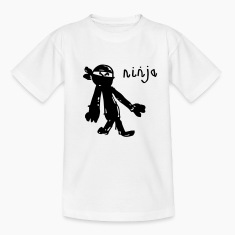 an awesome genuine kids drawing of a NINJA! Shirts
