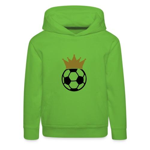 Kindertrui Voetbal met Kroon - Kinderen trui Premium met capuchon