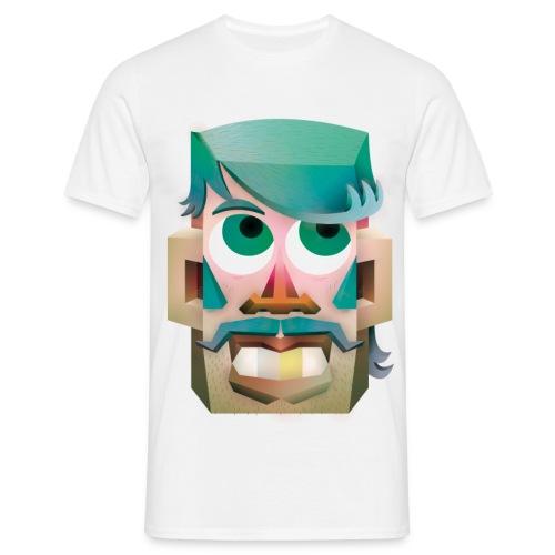 tete de type - T-shirt Homme