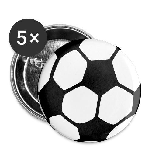 Fotball buttons - Stor pin 56 mm (5-er pakke)