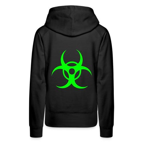 Biohazard - Neongrön - Premiumluvtröja dam
