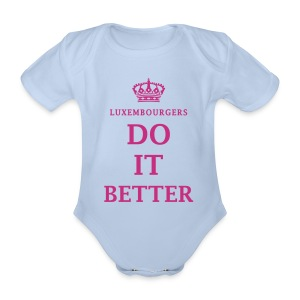 I Love Luxembourg - Baby - Organic Short-sleeved Baby Bodysuit