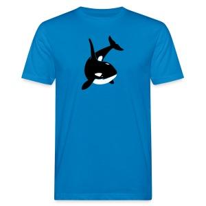 tier t-shirt orca orka wal killer whale delphin dolphin delfin shark hai - Männer Bio-T-Shirt