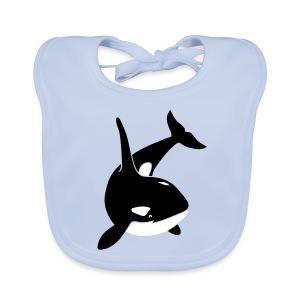 tier lätzchen t-shirt orca orka wal killer whale delphin dolphin delfin shark hai - Baby Bio-Lätzchen