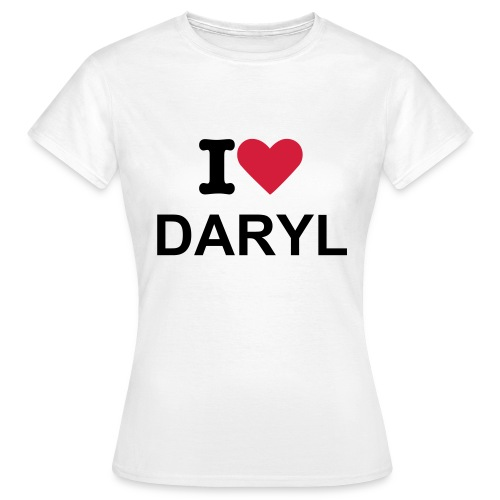 I Heart Daryl White T-Shirt - Inspired By The Walking Dead  - Women's T-Shirt