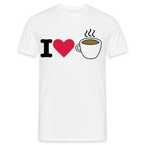 I love coffe - T-skjorte for menn