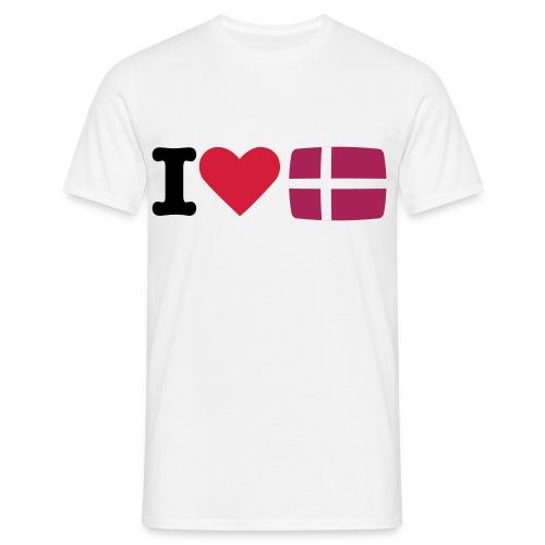 I love Denmark - T-skjorte for menn