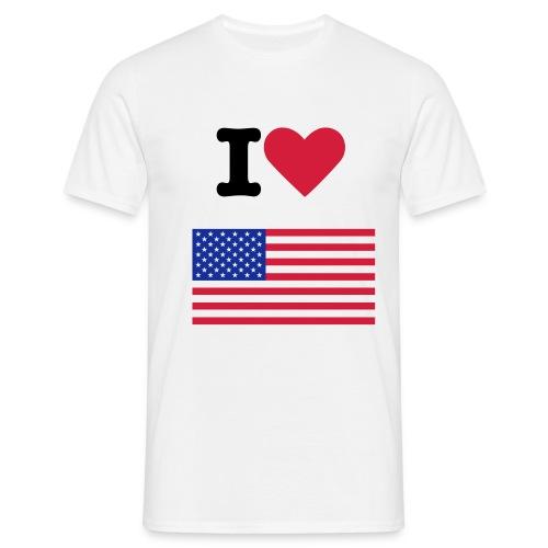 I love Usa - T-skjorte for menn