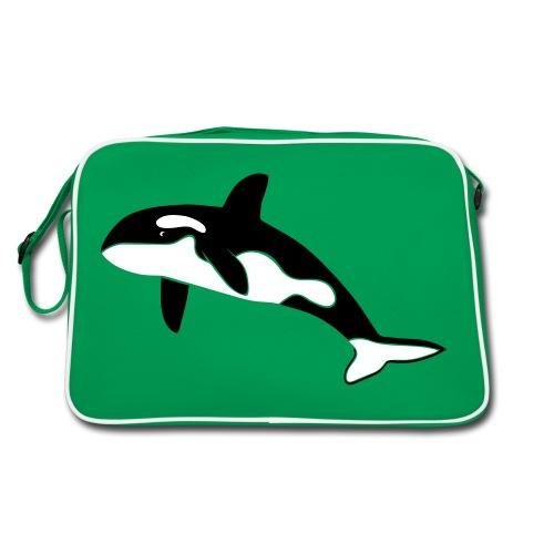 tier t-shirt orca orka wal killer whale delphin dolphin delfin shark hai - Retro Tasche