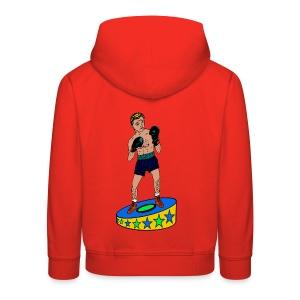 kinder trui met een  bokser - Kinderen trui Premium met capuchon