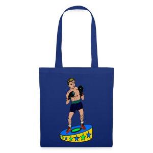 tas met een  bokser - Tas van stof
