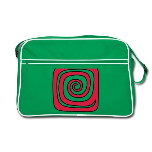 Quadrat_Spirale - Retro Tasche