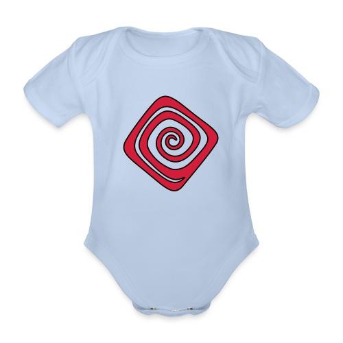 Quadrat_Spirale - Baby Bio-Kurzarm-Body