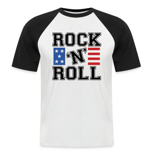 rocknroll - Kortærmet herre-baseballshirt
