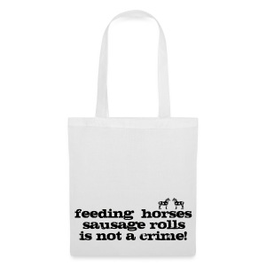 Feeding Horses - Tote Bag