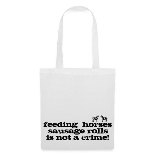 Feeding Horses - Tote Bag