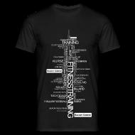 T-Shirts ~ Männer T-Shirt ~ Alles über Fitness Motiv weiß