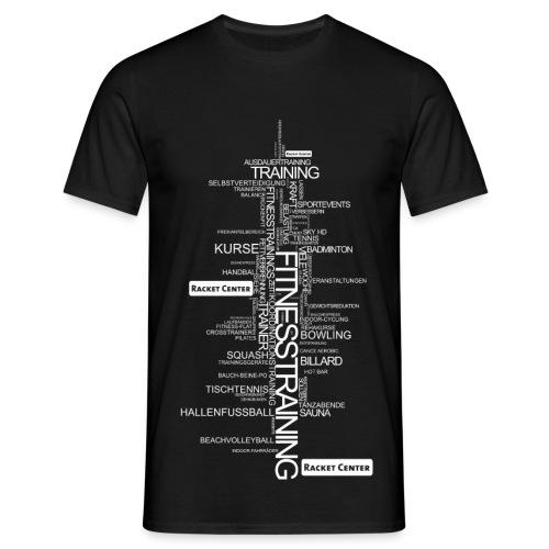 Alles über Fitness Motiv weiß - Männer T-Shirt