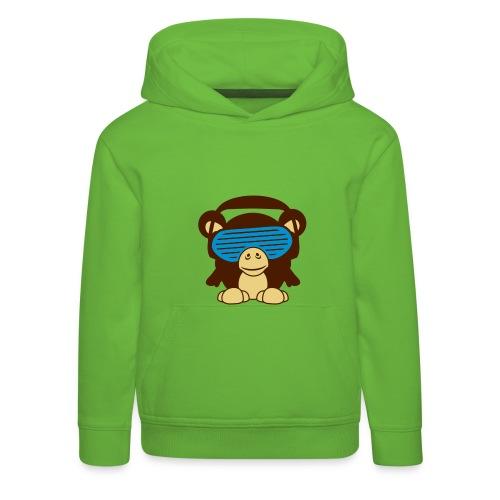 Kinder Jongenssweater: Monkey - Kinderen trui Premium met capuchon