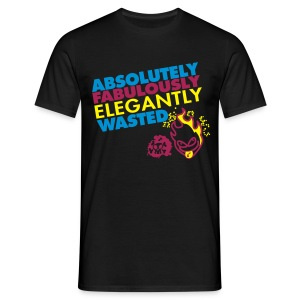 absolutely fabuously elegantly wasted - Mannen T-shirt