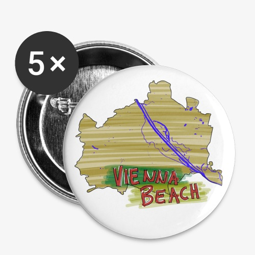 Vienna Beach | Buttons (small) - Buttons klein 25 mm