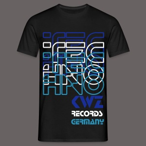 Techno KWZ Germany - T-Shirt    ( Flockdruck) - Männer T-Shirt