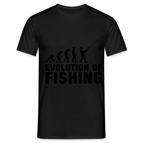 Evolution of Fishing - Men's T-Shirt
