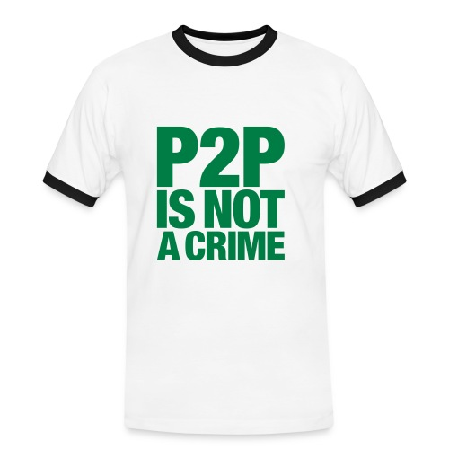 P2P is not a Crime - Camiseta contraste hombre