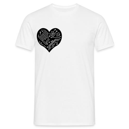 Circuit Heart - Men's T-Shirt