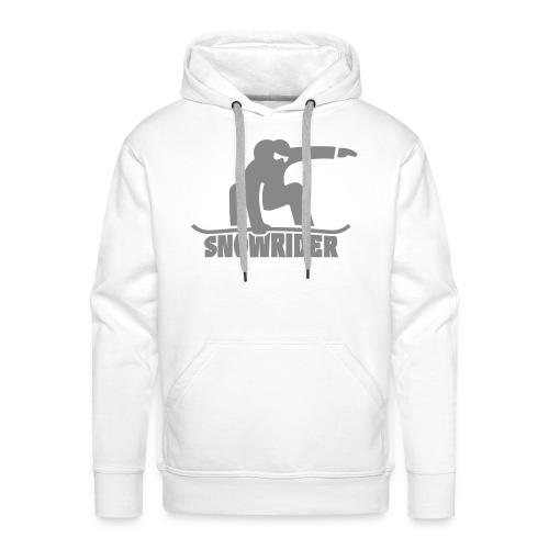 Snowrider - Sweat-shirt à capuche Premium pour hommes
