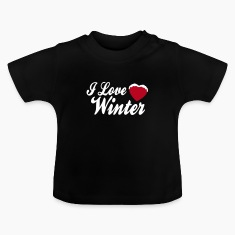 I love winter with heart 2c Koszulki