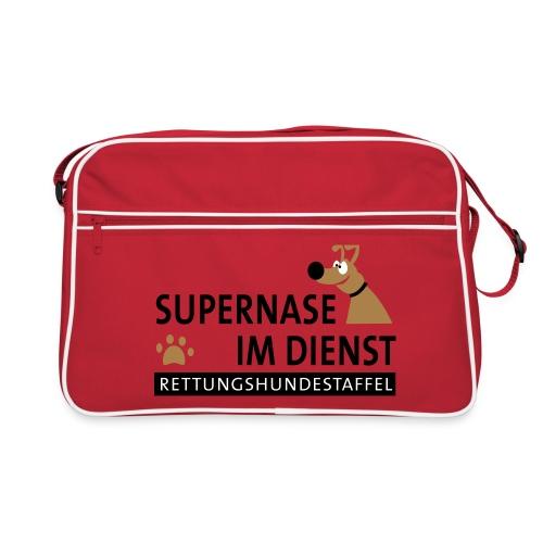 Supernase im Dienst - Retro Tasche