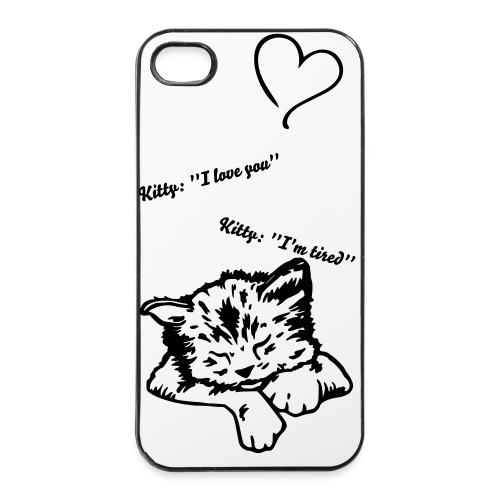 Iphone case - Cute Kitty - iPhone 4/4s hard case