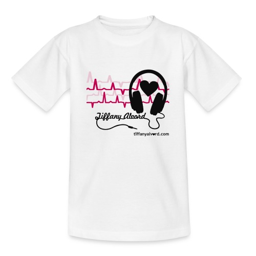 Headphones and Heart-Beats - Kids' T-Shirt