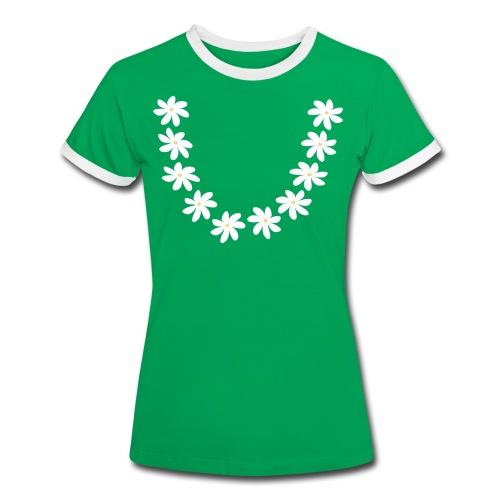 T-shirt collier tiare tahiti - T-shirt contrasté Femme