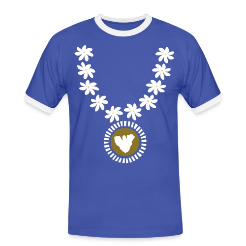 Moorea gold collier tiare tahiti - T-shirt contrasté Homme