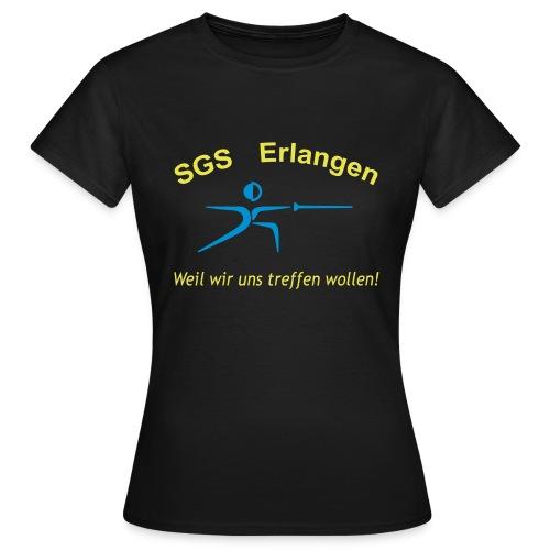 SGS Frauen Schwarz T-Shirt - Frauen T-Shirt