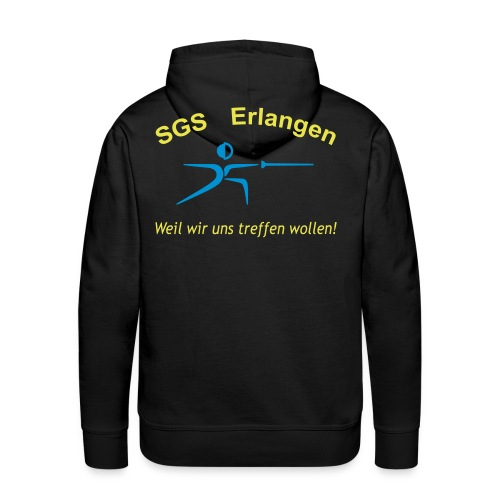 SGS Männer Schwarz Kapuze  - Männer Premium Hoodie
