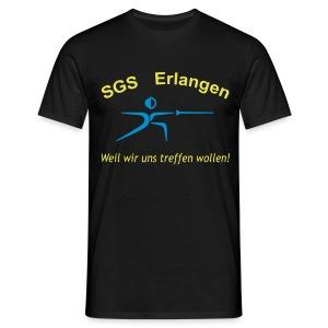 SGS Männer Schwarz T-Shirt - Männer T-Shirt