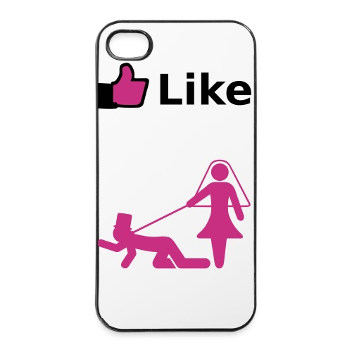 Iphone case - (Like) My husband is my dog - iPhone 4/4s hard case